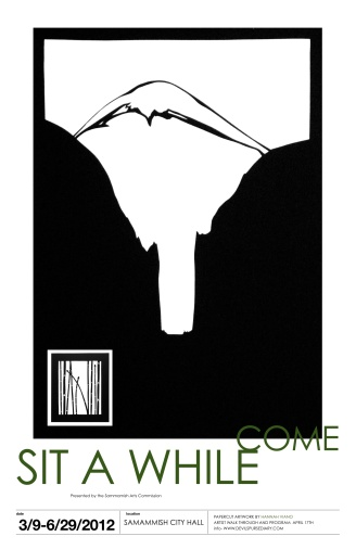 come sit a while poster