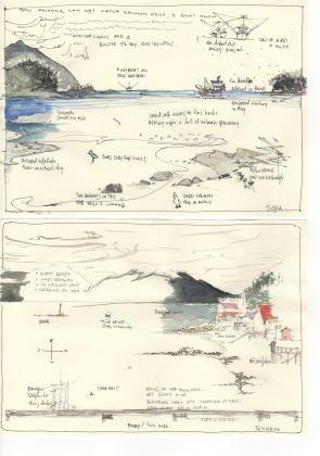alaska watercolors